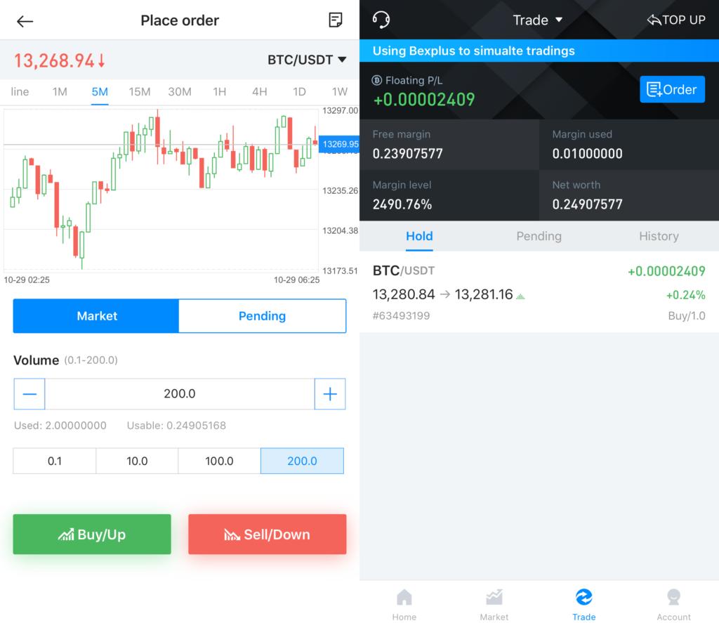 Cómo establecer una orden de trading en Bexplus