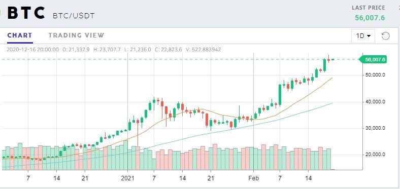 Gráfica del precio de Bitcoin (BTC) en las últimas horas, y que puede explicar por qué las ballenas permanecen sin vender sis tokens todavía. Fuente: ProBit