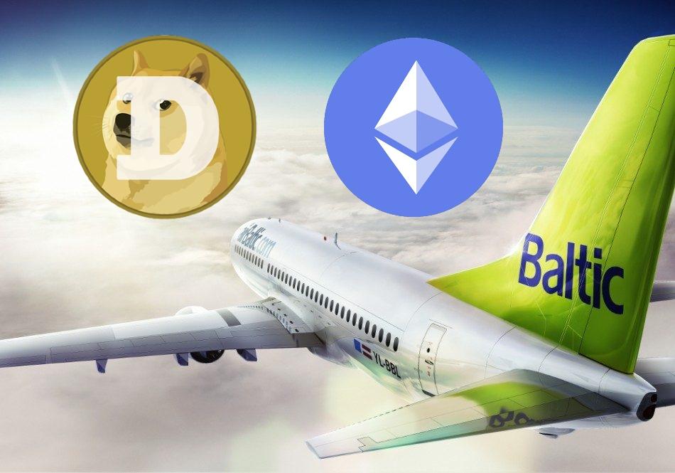 Aerolínea airBaltic permitirá a sus cripto clientes pagar con Dogecoin y Ethereum