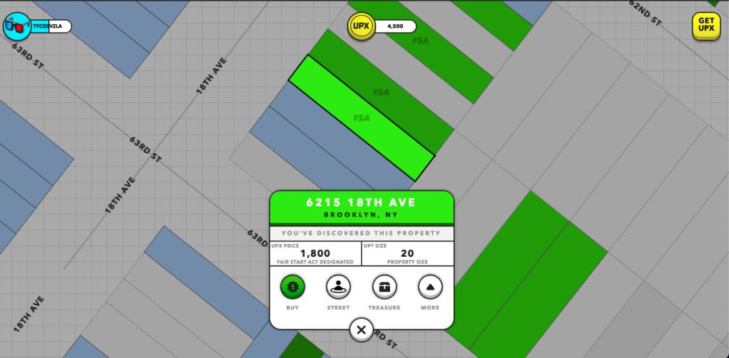 Propiedades en UpLand, el nuevo metaverso de los videojuegos. Fuente: Upland.Me APP