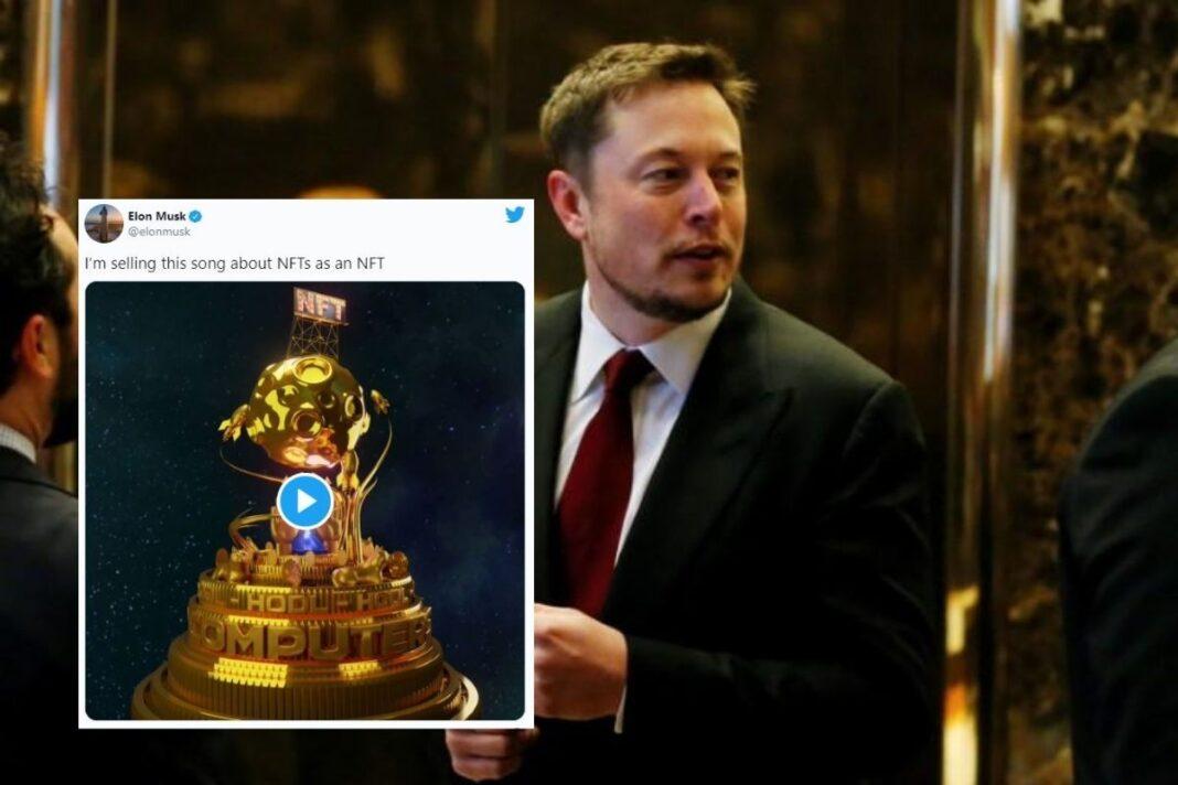 Elon Musk está vendiendo una canción sobre los NFTs
