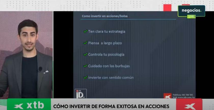 Alejandro Estebaranz, experto en bolsa y líder de True Value, ofrece sus consejos para invertir en acciones de forma exitosa. Fuente: XTB Investors Day 2021