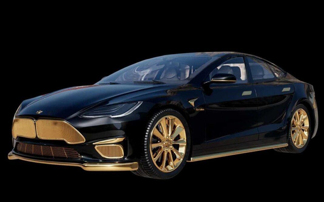 El Tesla Model S más costoso del mundo está hecho de oro puro