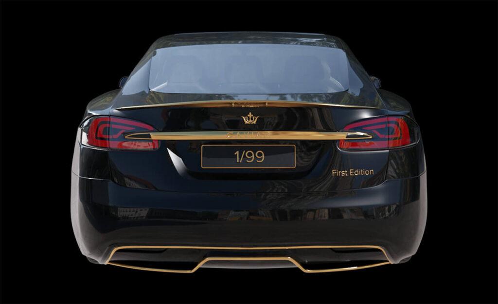 El Tesla Model S más costoso del mundo. El Caviar MODEL EXCELLENCE 24K. Fuente: Caviar