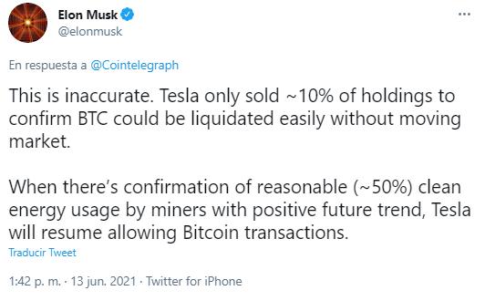 Respuesta de Elon Musk a la acusación de hacer pump and dump