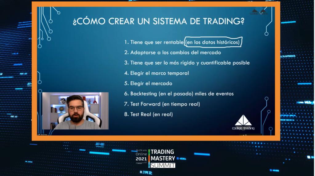 El segundo día del Trading Mastery Summit se centró en explicar cómo crear un sistema de trading para los principiantes del mundo financiero.