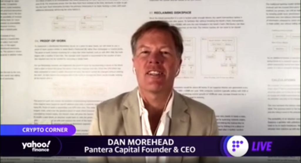 De acuerdo al criterio del CEO de Pantera Capital, Dan Morehead, China lidera cómodamente (con 6 años de ventaja sobre EE.UU.) la carrera por el desarrollo de un sistema de pagos amparado en Blockchain. Fuente: Yahoo Finance