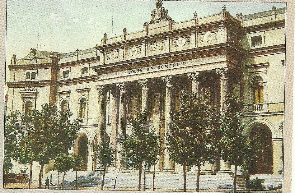 La Bolsa de Madrid en su inauguración