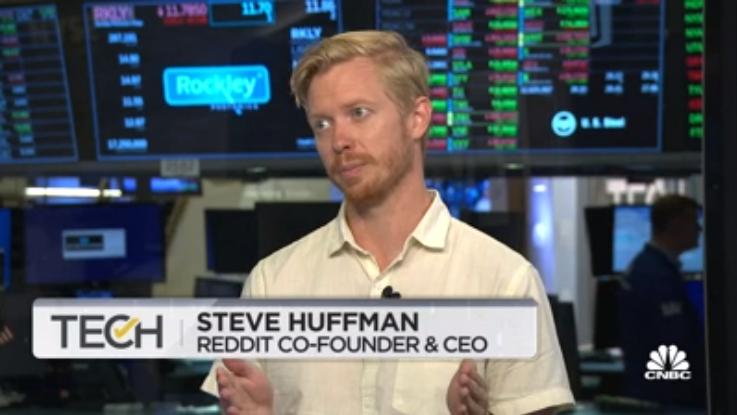 El CEO y cofundador de la red social Reddit, afirma que las innovaciones que se llevarán a cabo en toda su estructura, serán una nueva revolución para esa compañía. Fuente: captura de pantalla CNBC