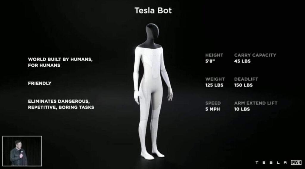 Tesla Bot. Fuente: Tesla