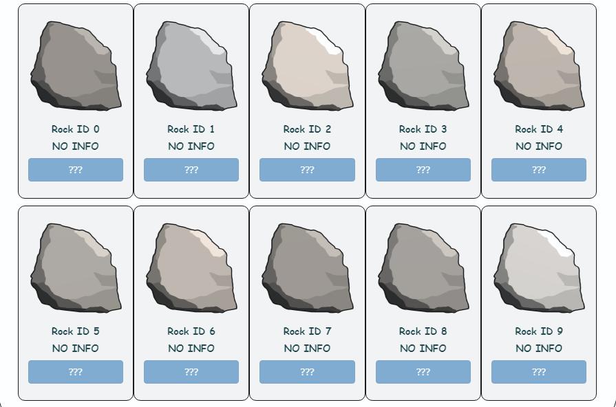 El NFT vendido por valor de $1.3 millones de dólares, pertenece a una colección única de 100 rocas en caricatura. Fuente: captura de pantalla de EtherRock