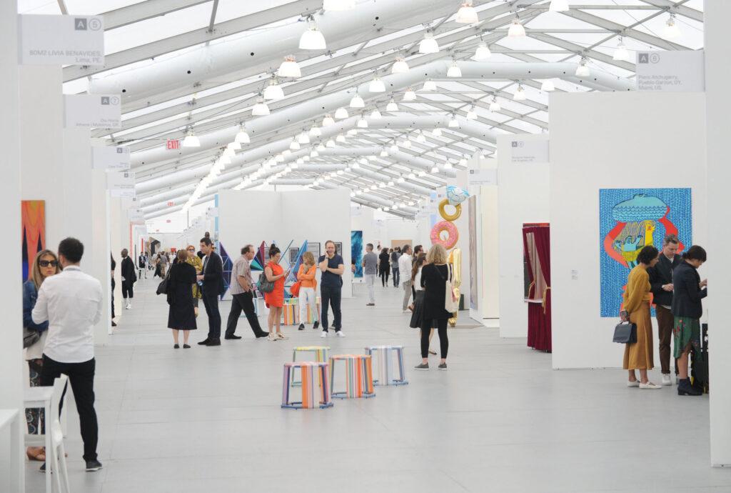 El festival de arte SCOPE tiene a la venta boletos VIP en forma de tokens no fungibles NFT. Fuente: The New York Times