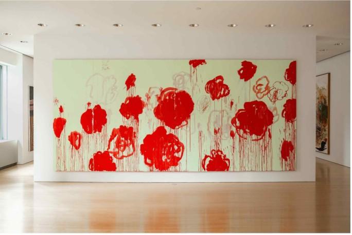 Entre las obras de arte de la colección de los Macklowes que venderá en subasta Sotheby's, se cuenta la obra de Cy Twombly de 2007, valorada entre $40 y $60 millones de dólares. Fuente: Sotheby's